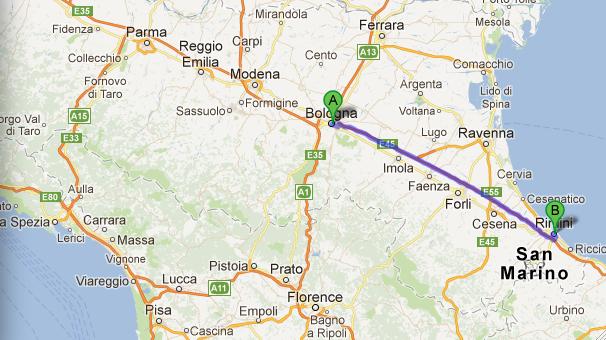 Biking Rimini to Verucchio ciao bologna