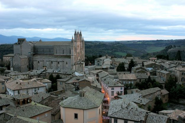 View of Orvieto from the top of il Torre del Moro