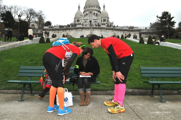 Contestants check-in in front of Montmartre's La Basilique du Sacré Coeur, photo by Eric Montgobert courtesy of Pop in Breaks